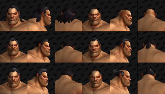 Les différentes coiffures disponibles - World of Warcraft