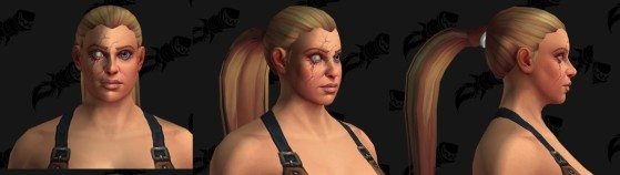 Les différents visages disponibles - World of Warcraft