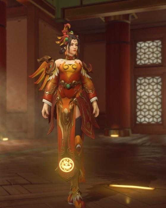 La skin Zhuque d'Ange - Overwatch