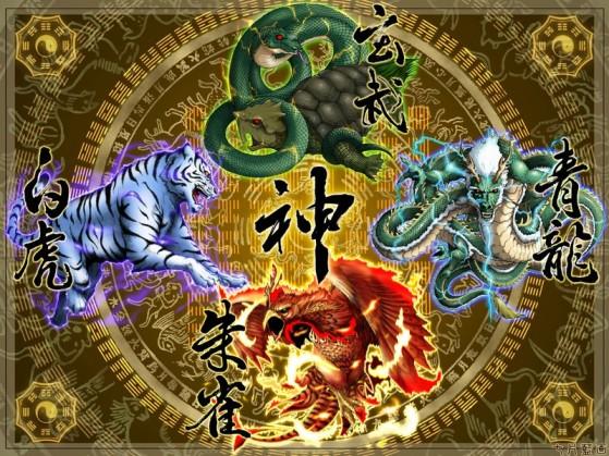 Une représentation des quatre gardiens chinois - Overwatch