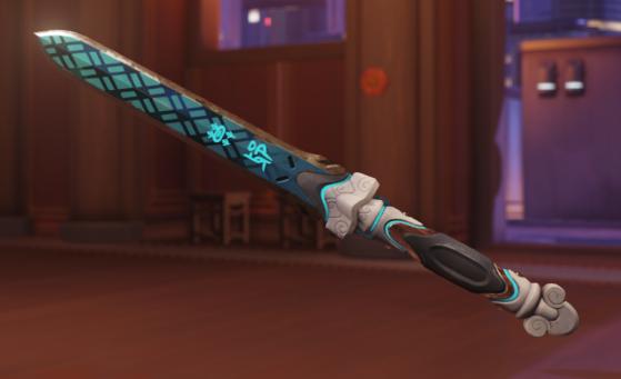 La lame courte arborant les symboles de Mo Ye - Overwatch