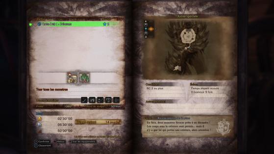 Les défis ne sont présents que deux semaines à chaque fois - Monster Hunter World