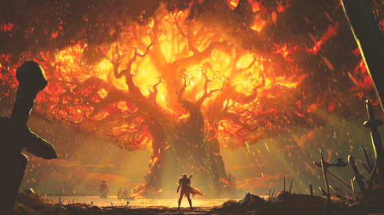 WoW : Battle for Azeroth : Teldrassil, l'Arbre monde incendié