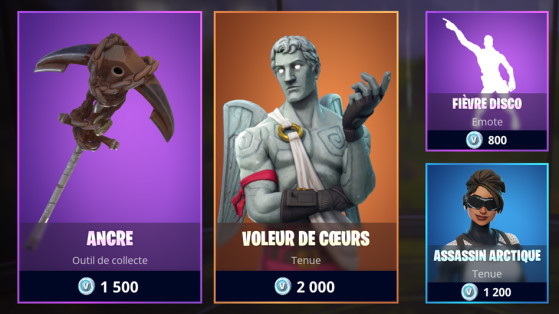 Fortnite : boutique du 11 avril