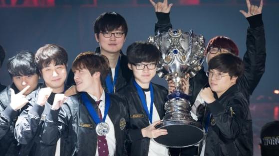 Les SK Telecom T1 victorieux lors des Worlds 2016 - League of Legends