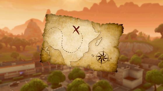 Fortnite : défi, suivre la carte au trésor trouvée à Moisty Mire