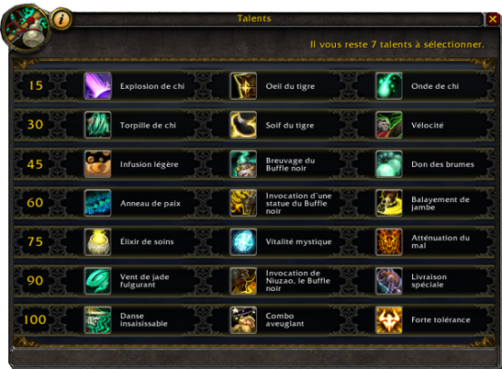 Talents Légion - World of Warcraft