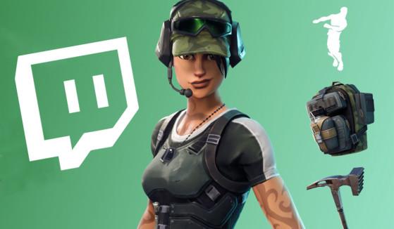 Fortnite : skin Twitch Prime pack 2