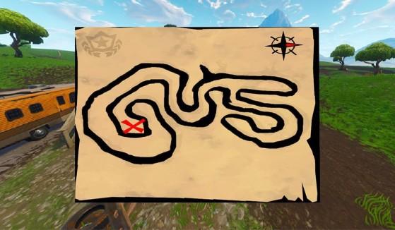 Fortnite : défi, carte au trésor de Salty Springs