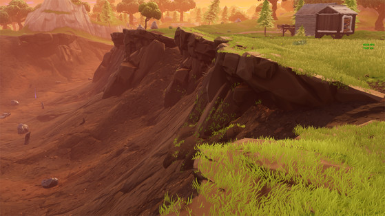 Fortnite : l'herbe repousse au cratère de Dusty Depot