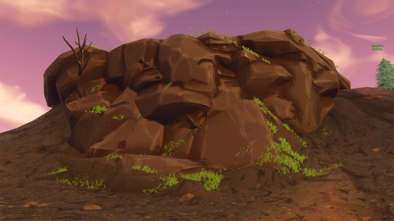 L'herbe avance progressivement jusqu'en bas du cratère. - Fortnite : Battle royale