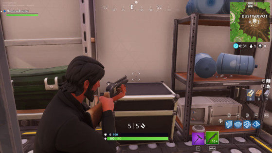 Dans le container à l'ouest de la base. - Fortnite : Battle royale