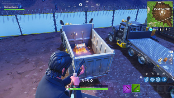 Dans un camion dans la partie sud ouest de la base. - Fortnite : Battle royale