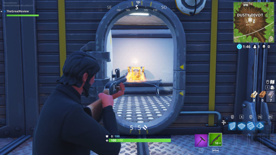 Dans un container dans la partie sud de la base. - Fortnite : Battle royale