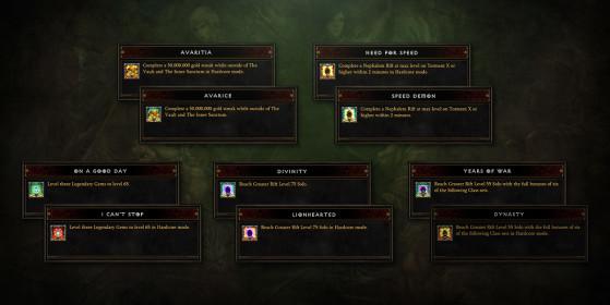 Des Conquêtes sur le thème de l'avarice - Diablo 3
