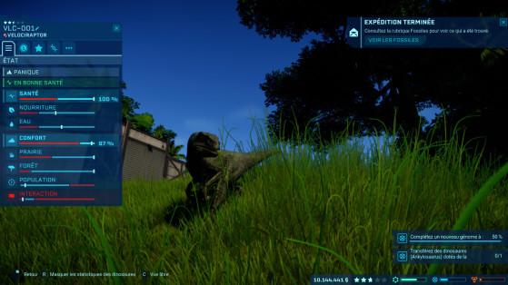 Chaque dinosaure a ses besoins, il faudra être à leur écoute (quoi?) - Millenium