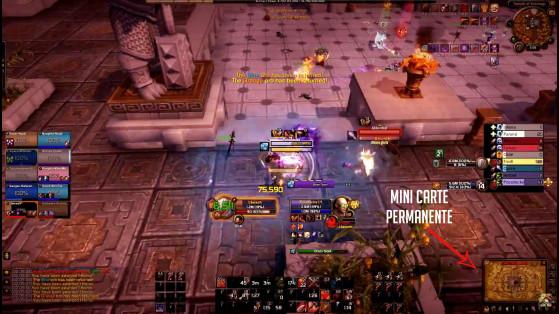 Illustration de la mini carte. Pour les curieux, oui j'ai tué ce Démoniste, et même le Voleur s'étant pointé juste après ! - World of Warcraft
