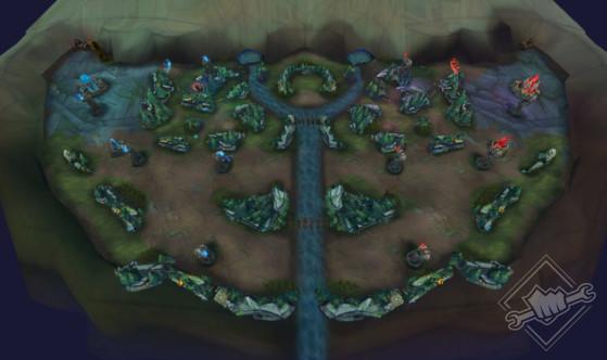 Une carte pour le moins étrange - League of Legends