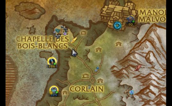 Pour rappel, le coffre se trouve en 25.8, 20.0. - World of Warcraft