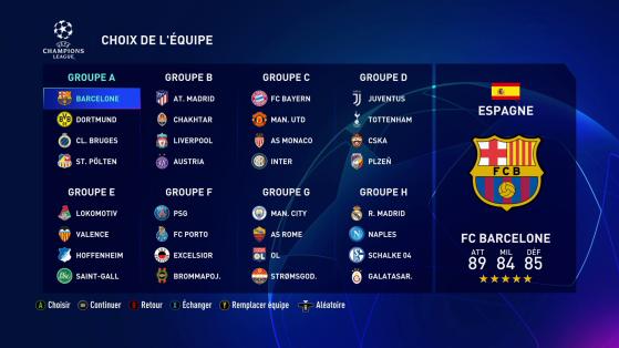 Les groupes seront à jour au lancement. - FIFA