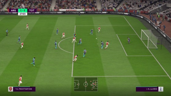 Curseur vert pour un timing réussi - FIFA