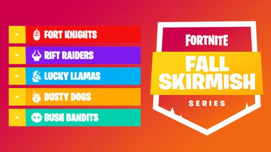 Fortnite : classement général Fall Skirmish 2018