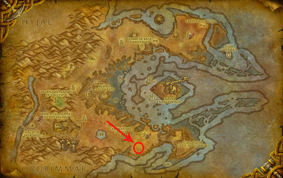 Localisation d'Azuregos - World of Warcraft
