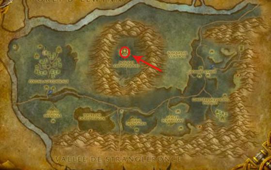 Localisation de Taerar - World of Warcraft