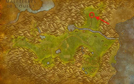 Localisation de Léthon - World of Warcraft