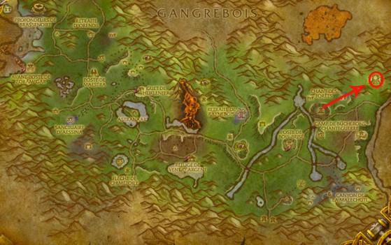 Localisation d'Ysondre - World of Warcraft