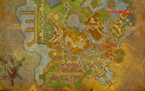 Localisation de l'Historien Llore (Alliance) - World of Warcraft