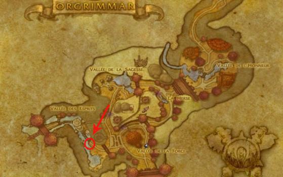 Localisation de l'Historien Ju'pa (Horde) - World of Warcraft