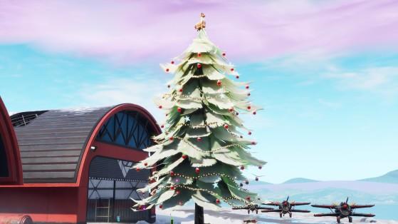 Fortnite : danser devant différents sapins de Noël, 14 jours, défi