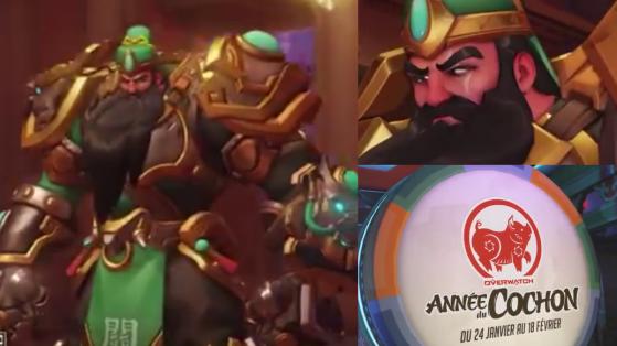 Overwatch, nouvel an lunaire, cochon, skin légendaire Reinhardt, Guan Yu