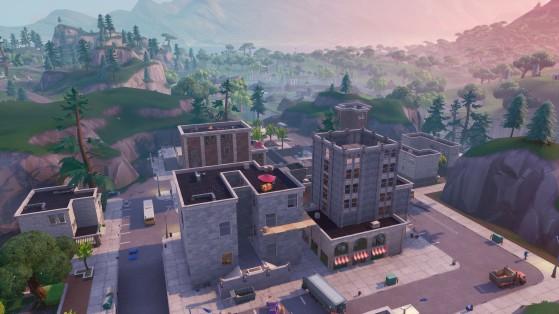 Fortnite : défi à étape : atterrir à Tilted Tower, semaine 4 saison 8