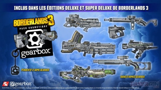 Le pack Gearbox - Borderlands 3