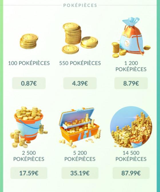 Les prix du Galaxy store - Pokemon