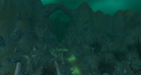 Un exemple de variation chromatique s'adaptant à une sous-partie de la zone. - World of Warcraft