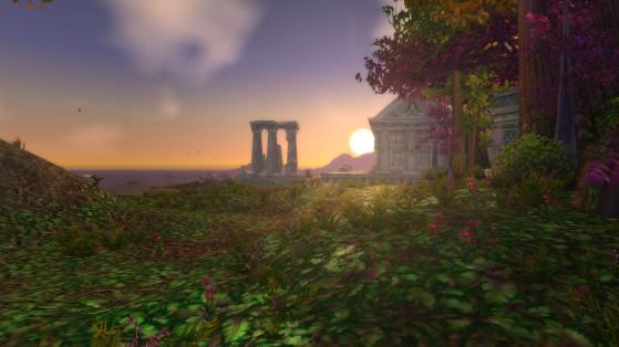 Ceci est un point coucher de soleil. - World of Warcraft