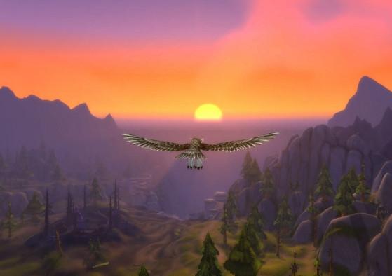 Nous commencerons par un point coucher de soleil qui... Ah pardon, j'avais oublié qu'à l'heure où vous lirez ses lignes, il fera 40 degrés, vous n'en pourrez plus du soleil. - World of Warcraft