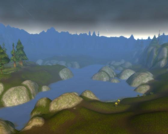 Savourez cette petite image de fraîcheur et d'humidité froide. Votre esprit se libère, un frisson parcourt vos épaules, vous en oubliez qu'il y a une hutte de Murlocs sur la photo. - World of Warcraft