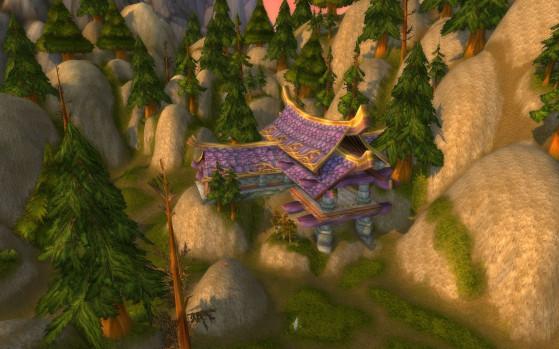 Pardon, mais la confusion était compréhensible, c'est clairement un pavillon des Elfes de la Nuit ! - World of Warcraft