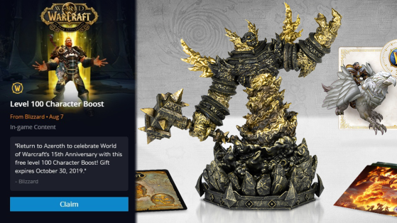 WoW : Jeton d'XP niveau 100 ; des cadeaux pour les absents