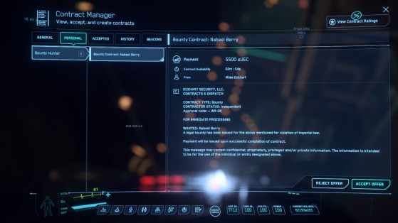 Mission de Miles dans le MobiGlass - Star Citizen