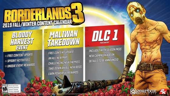 Borderlands 3 : Contenu gratuit, Planning de sortie, The Borderlands Show