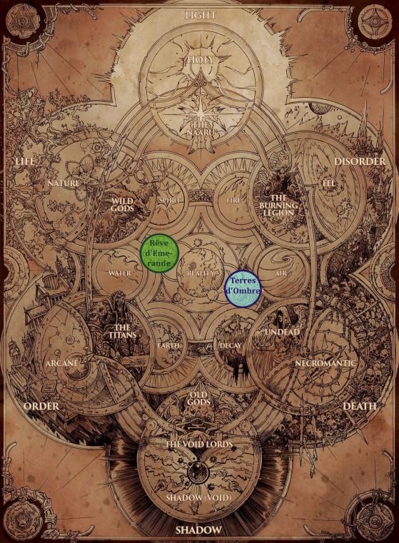 Et hop, l'illustration qu'on pourrait presque caser dans tous les articles de lore : la cosmologie (Chroniques, vol. 1, p. 8) - World of Warcraft
