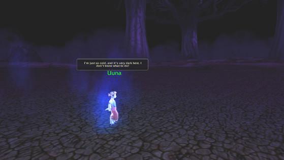 Uuna dans le scénario « Au sein des ombres » - World of Warcraft
