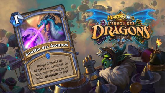 Hearthstone Envol des Dragons : nouveau sort rare Mage Souffle des Arcanes
