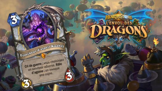 Hearthstone Envol des Dragons : nouveau serviteur légendaire Prêtre Écorcheur d'esprit Kaahrj