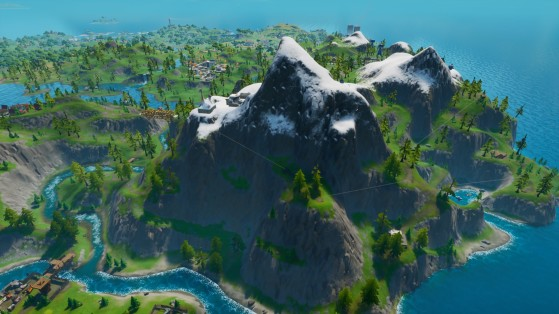 Dans la chaîne de montagnes au sud-est de la carte - Fortnite : Battle royale